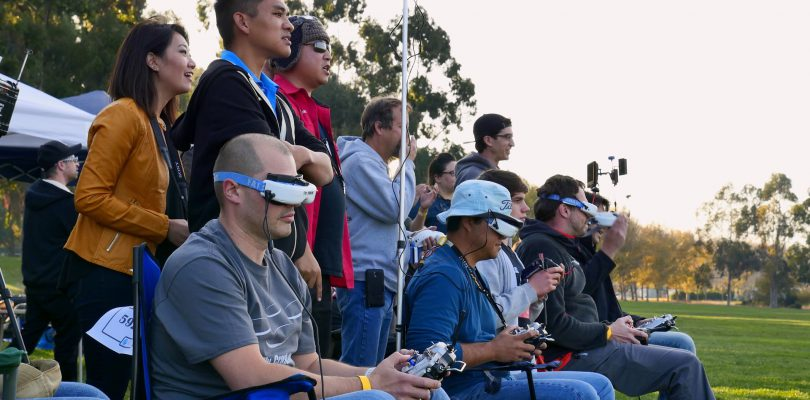 Drone Racing In Park