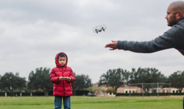 Kid Flying Drone